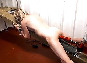 RachelSexyMaid - 15 - gets naked pounding from Dungeon fuck machinery