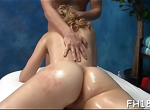 Hawt exchange student fucks her massagist
