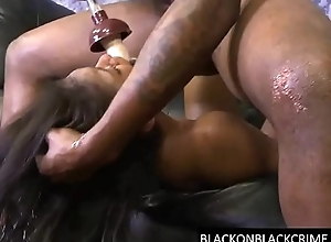 Deep throating a huge black cock