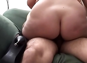 Amateur milf gives hot blowjobs to two cocks