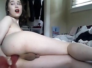 TS Beauty Dildoing Say no to Delicious Booty