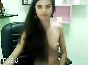 Brunette with perfect body overhead chair - xcam.su