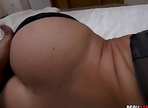 Horny MILF stepmom enjoyed in a sneaky sex with a stepson