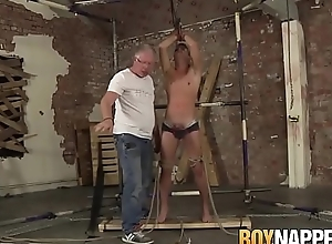 Tied up Cameron James cums load pass muster hardcore treatment