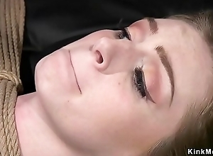 Spanked and whipped auntie in bondage
