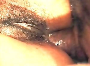 Horny ebony girl is possessions all theirs holes stuffed during orgy