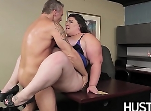 BBW god Bella Bendz bent over and smashed passionately