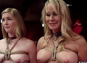 Senior slaves competing in orgy ribbon