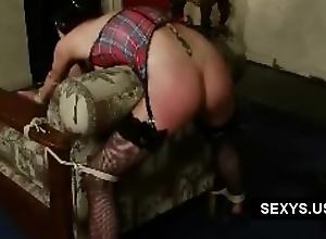 spanked ass