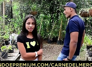 CARNE DEL MERCADO - Young petite Colombian dame pounded hard