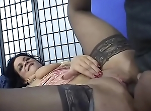 Hot ass milf Deb on sofa gets fucking in different positions by dong