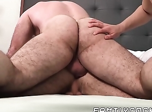 Hairy hung shine bare fucks stepson and his delish friend