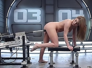 Stunning ass sunless fucking machine