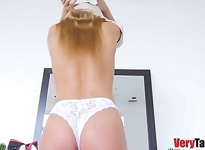 Blair Williams Fucks Say no to Dad While Mom Almost Caught Them