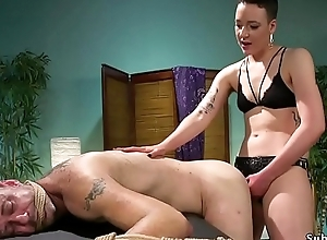 Dom masseuse ties prevalent and anal fucks male