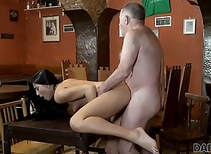 DADDY4K. Old owner of bar satisfies needs together with son'_s hot GF