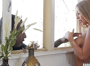 Black defy visits her latina lover in her kitchen - Kat Dior and Jon Jon