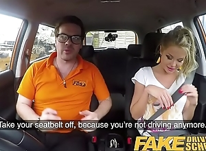 Fake Driving School Blonde busty Polish tight pussy fucked certificate duty
