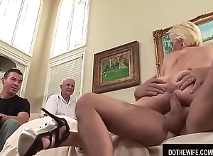 Chubby Boobed Wife Kasey Grant Is Sodomized by a Stranger in Front of Hubby