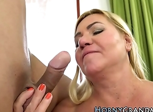 Old women banged hard