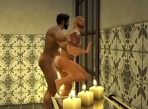 Sims 4 Dany &amp_ Samuil make the beast with two backs