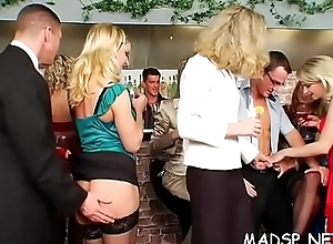Wet hot sex party with loads of stupefying horny sweethearts