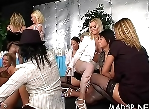 Bunch of wet vaginas get stuffed with studs'_ strong cocks