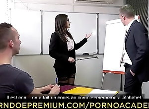 PORNO ACADEMIE - Double penetration sex be fitting of naughty teacher Valentina Nappi