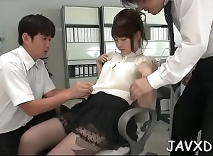 Chick gives wonderful blowjob and gets shaggy pussy nailed