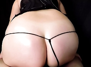 Fucking and Sloppy Blowjob With Massive Sticky Facial hither Slutty Corset and Tiny G String