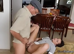 Teen Amy Gets Her Pussy Used By Randy Old Men