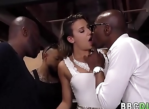 White Girl Gets Hardcore ANAL GangBang By Big Black Cocks