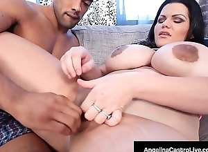 Thick Cuban Angelina Castro Titty Fucked At the end of one's tether Big Black Cock!