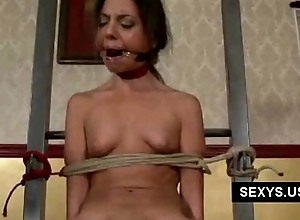 Tied up gagged and blindfolded