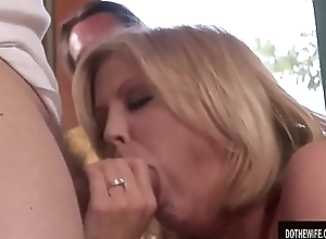 Mature spliced Lya Socialistic wildly sucks and fucks stud while cut corners watches