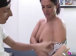 Filipe'_s best waking insensate are Montse'_s videos. Today, he'_s banging her _)