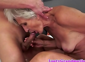 European grandma sucking and dickriding