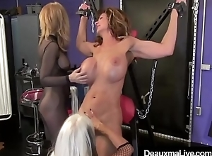 Cougar Deauxma Whipped In Hutch confine &amp_ On Cross By Nina &amp_ Sally!