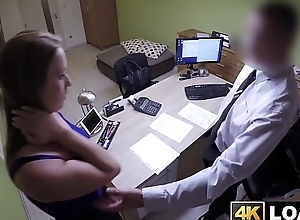 Amazing babe gets fucked by her loan agent reluctantly