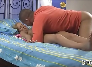 Favourable male enjoys pang &amp_ pleasure of his na