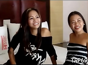 Petite thai slut makes at one entranced with her skills