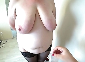 Milf came to burnish apply reception to burnish apply nurse and got an orgasm from fisting, a bbw doggystyle shakes beautiful booty, lesbians POV.