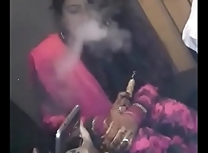 Smoking Newly Married Hot-Girl Taking Hookah!