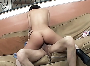 Teen girl Kristina Rose seduces older stud to fuck will not hear of in the living room