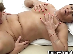 Massaged granny nip