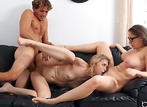 Teacher lures young students into sensual threesome