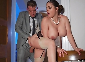 Deepthroating and anal sex wide hot curvy wife