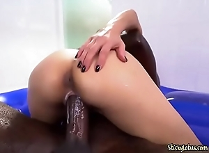 Curvy Asian Plow Jackie Lin Loves A Big Black Cock
