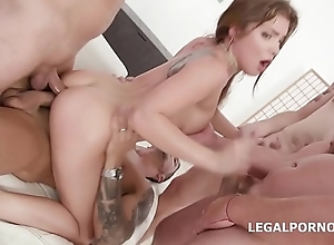 Renata Fox first time Double Anal with multiple positions, DP, Balls Deep Anal, Great Gapes