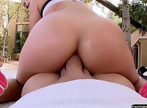 Beautiful babe pov fucked on every side her tight ass